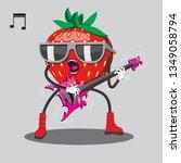 strawberries in sunglasses...   Shutterstock .eps vector #1349058794