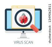 vector illustration of virus... | Shutterstock .eps vector #1349062811