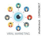 vector illustration of social... | Shutterstock .eps vector #1349062817
