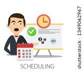calendar and clock. concept of... | Shutterstock .eps vector #1349062967