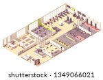 vector isometric fitness club... | Shutterstock .eps vector #1349066021