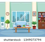 business office workplace | Shutterstock .eps vector #1349073794