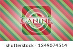 canine christmas style badge.. | Shutterstock .eps vector #1349074514