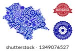 best service collage of blue... | Shutterstock .eps vector #1349076527
