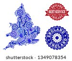best service collage of blue... | Shutterstock .eps vector #1349078354