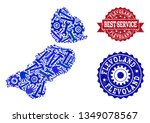 best service collage of blue... | Shutterstock .eps vector #1349078567