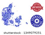 best service collage of blue... | Shutterstock .eps vector #1349079251