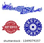 best service collage of blue... | Shutterstock .eps vector #1349079257