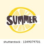summer word written with funky... | Shutterstock .eps vector #1349079701