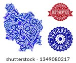 best service collage of blue... | Shutterstock .eps vector #1349080217