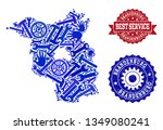 best service collage of blue... | Shutterstock .eps vector #1349080241