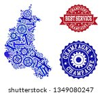 best service collage of blue... | Shutterstock .eps vector #1349080247