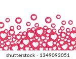 white background with hearts... | Shutterstock .eps vector #1349093051