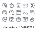 time and date related line icon ...