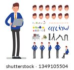bank staff manager character to ... | Shutterstock .eps vector #1349105504