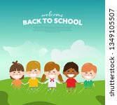back to school and happy... | Shutterstock .eps vector #1349105507