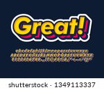 great font for young design... | Shutterstock .eps vector #1349113337