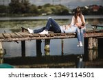 ideal moment.. beautiful young... | Shutterstock . vector #1349114501