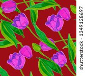 spring floral seamless pattern... | Shutterstock . vector #1349128697