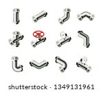 isometric pipes  fittings ... | Shutterstock .eps vector #1349131961