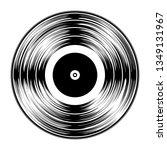 gramophone black vinyl lp... | Shutterstock .eps vector #1349131967