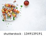 grilled chicken and vegetable... | Shutterstock . vector #1349139191