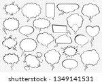 set of comic speech bubbles.... | Shutterstock .eps vector #1349141531