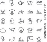 thin line icon set   tree... | Shutterstock .eps vector #1349144744