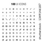 pack of 100 ui icons   line art ...