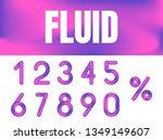abstract vector numerals set   Shutterstock .eps vector #1349149607