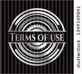 terms of use silver emblem | Shutterstock .eps vector #1349149841
