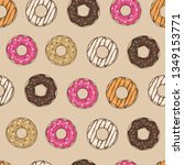 seamless pattern with glazed...   Shutterstock .eps vector #1349153771