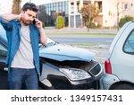 man calling roadside service... | Shutterstock . vector #1349157431
