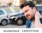 driver injured after one bad... | Shutterstock . vector #1349157434