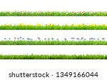 spring grass with daisy and... | Shutterstock . vector #1349166044