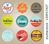set of summer   surfing design  ... | Shutterstock .eps vector #134917427