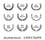 film awards. set of black and... | Shutterstock .eps vector #1349176094