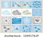 mega collection web cloud...   Shutterstock .eps vector #134917619