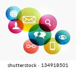 social media icons set in... | Shutterstock . vector #134918501