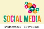 social media background of the... | Shutterstock . vector #134918531