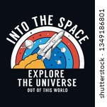 space slogan graphic  with... | Shutterstock .eps vector #1349186801
