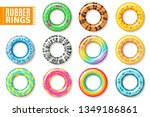 rubber rings. swimming... | Shutterstock .eps vector #1349186861