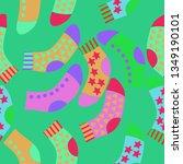 seamless composition of socks ... | Shutterstock . vector #1349190101