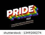 rainbow flag colors font ... | Shutterstock .eps vector #1349200274
