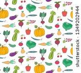 seamless pattern with cartoon... | Shutterstock .eps vector #1349202944