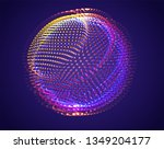 vector abstract form. bright... | Shutterstock .eps vector #1349204177