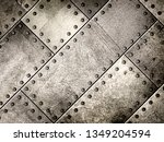 steel metal plate background ... | Shutterstock . vector #1349204594