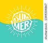 summer banner design.... | Shutterstock .eps vector #1349204867