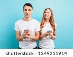 photo of satisfied attractive... | Shutterstock . vector #1349211914