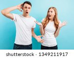 portrait of an uncertain and... | Shutterstock . vector #1349211917